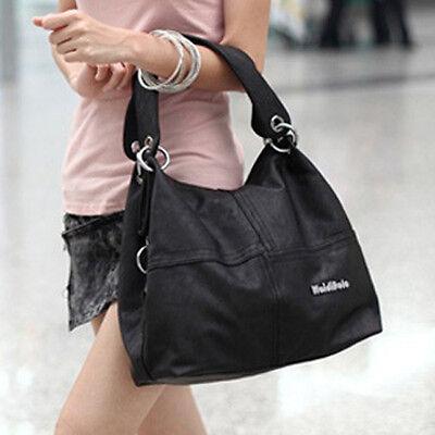 Frauen-dame Kunstleder Handtasche Schultertasche groß Einkaufstasche MESSAGER