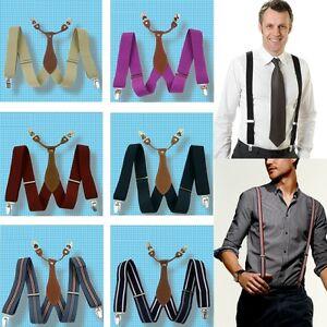 New-Adjustable-Mens-Suspender-3-5-CM-Width-Clip-on-unisex-Suspenders-Braces-BD6H