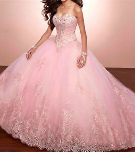 e8f051415b Image is loading Luxury-Beading-Quinceanera-Dress-Ball-Gowns-Lace-Tulle-