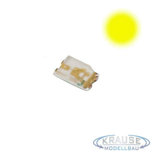 KM0082 5 Stück SMD LED 0603 gelb mit Kupferlackdraht 0,15mm Modellbahn