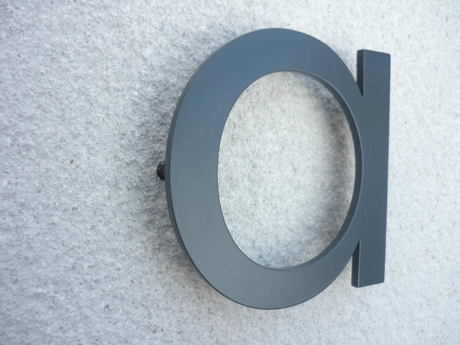 NEUTRAFACE Anthracite Aluminium Aluminium Aluminium Numéro De Maison PAIRE - 20cm - RAPIDE | La Conception Professionnelle  931c23