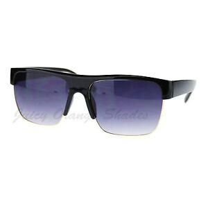 Fashion Men's Sunglasses Half Top Rim Square Designer ...