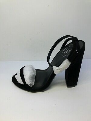 Adroit Dss* Missguided Womens Black Faux Suede Entry Block Heel Sandals Size Uk 3 Clothing, Shoes & Accessories