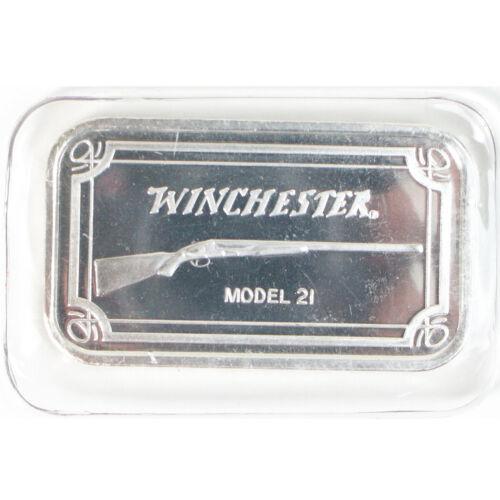 Winchester Model 21 Rifle 1 OZ .999 Fine Silver Bar
