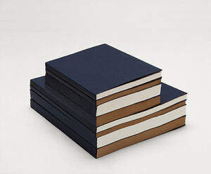The-BLUE-Heavy-Cover-sketchbook-sewing-White-Kraft-paper-60-120-sheets-flat-open