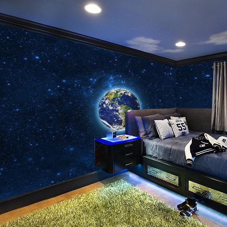 3D Erde Sternenhimmel 73 Tapete Wandgemälde Tapete Tapeten Bild Familie DE Lemon