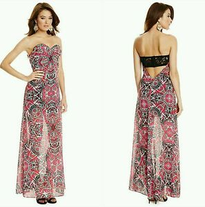 8fac5f9315c Image is loading NWT-GUESS-BY-MARCIANO-Butterfly-Maxi-Dress-SIZE-