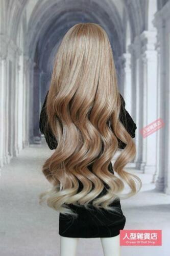 BJD Doll 1//3 9-10 Wig Long Wave Hair Straight Bangs Girl Brown