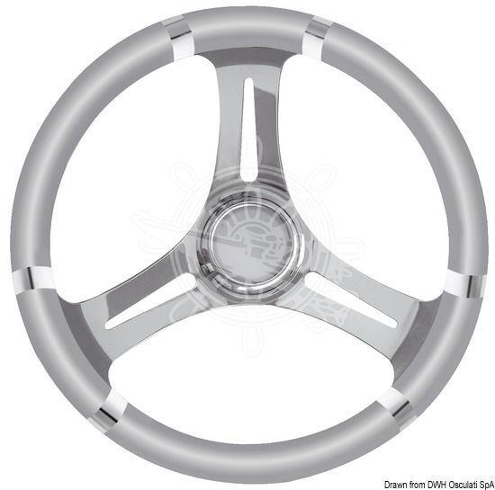 OSCULATI B Steuerrad Polyurethan weich grau/VAStahl 350mm