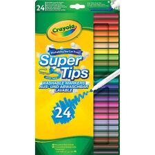 Crayola Supertips Washable Colouring Markers - 24 Multicoloured Felt Tips Pens