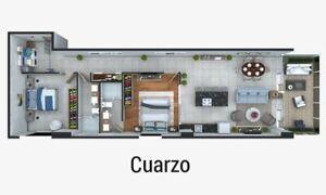 Departamento en Preventa en Luxury Sky Tower, Mazatlán, 1 Recámara