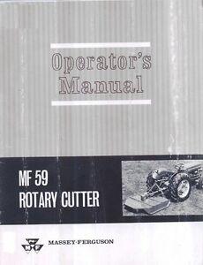 Massey-Ferguson-MF-59-Rotary-Cutter-Operators-Manual