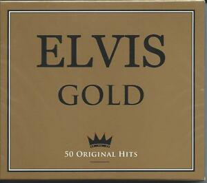 Elvis-Presley-Gold-50-Original-Greatest-Hits-The-Best-Of-2CD-NEW-SEALED