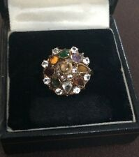 Ladies Antique 14k Gold Multi Gem Ring - Size P