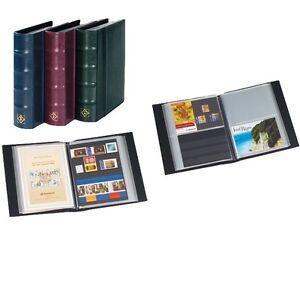 338284-Leuchtturm-Postkartenalbum-mit-50-Huellen-fuer-100-Ansichtskarten-rot