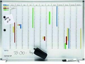 GENIE-AP2000-Jahresplaner-Magnettafel-Terminplaner-Whiteboard-Wandtafel-Pinnwand