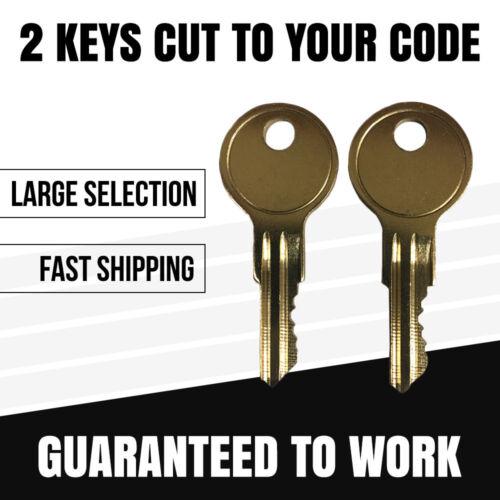 2 NEW Tool box Keys Any Costco Tool Box Lock Code Cut R601 R620  Tool box Key