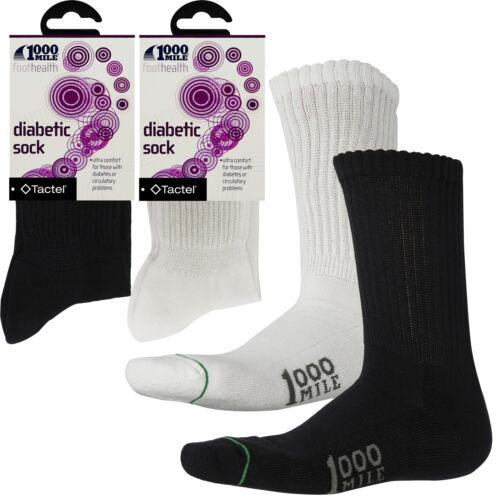 HOMME 3 tailles environ 1609.34 km Qualité Premium Ultra Confort SANS BLISTER Diabetic Socks 1000 mi