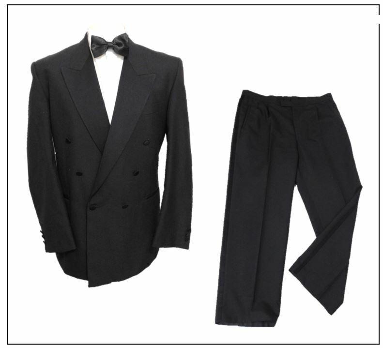 Varteks Double Breasted Mens Black Tuxedo Dinner Suit Ch44