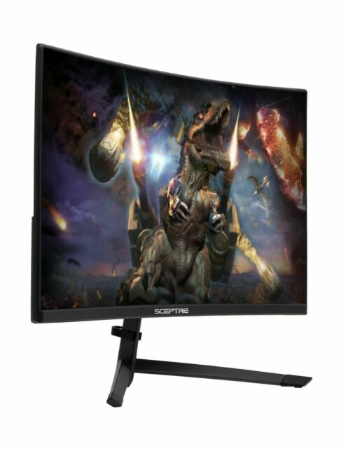Sceptre 24-Inch Curved 144Hz Gaming LED Monitor Edge-Less AMD FreeSync Displa...