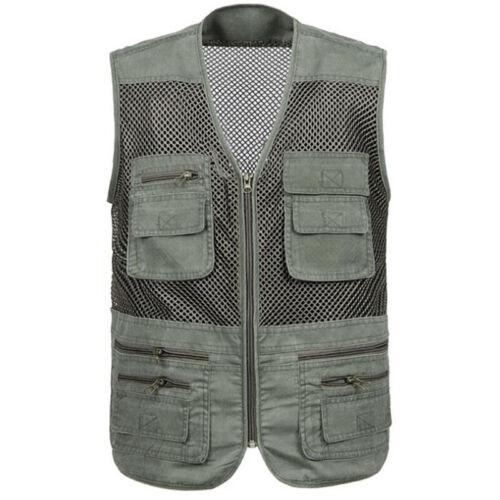 Men Multi-Pocket Fishing Hiking Vest Photography Jacket Outdoor Waistcoat Gilet