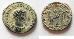 Aggressive Zurqieh aa9793 Nice As Found Desert Patina To Suit The PeopleS Convenience Diocletianus Ae Antoninianus