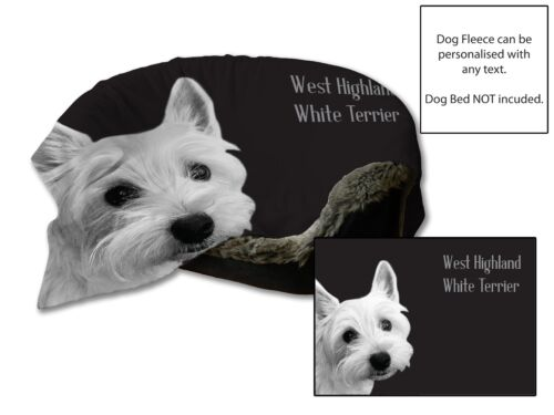 45x31 West Highland White Terrier Dog Bed Car Blanket Soft Fleece Throw Cover