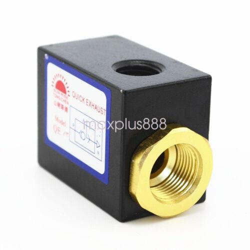 1PCS 3//8/' hilos de control de aire de escape rápido /'válvulas neumáticas QE-03