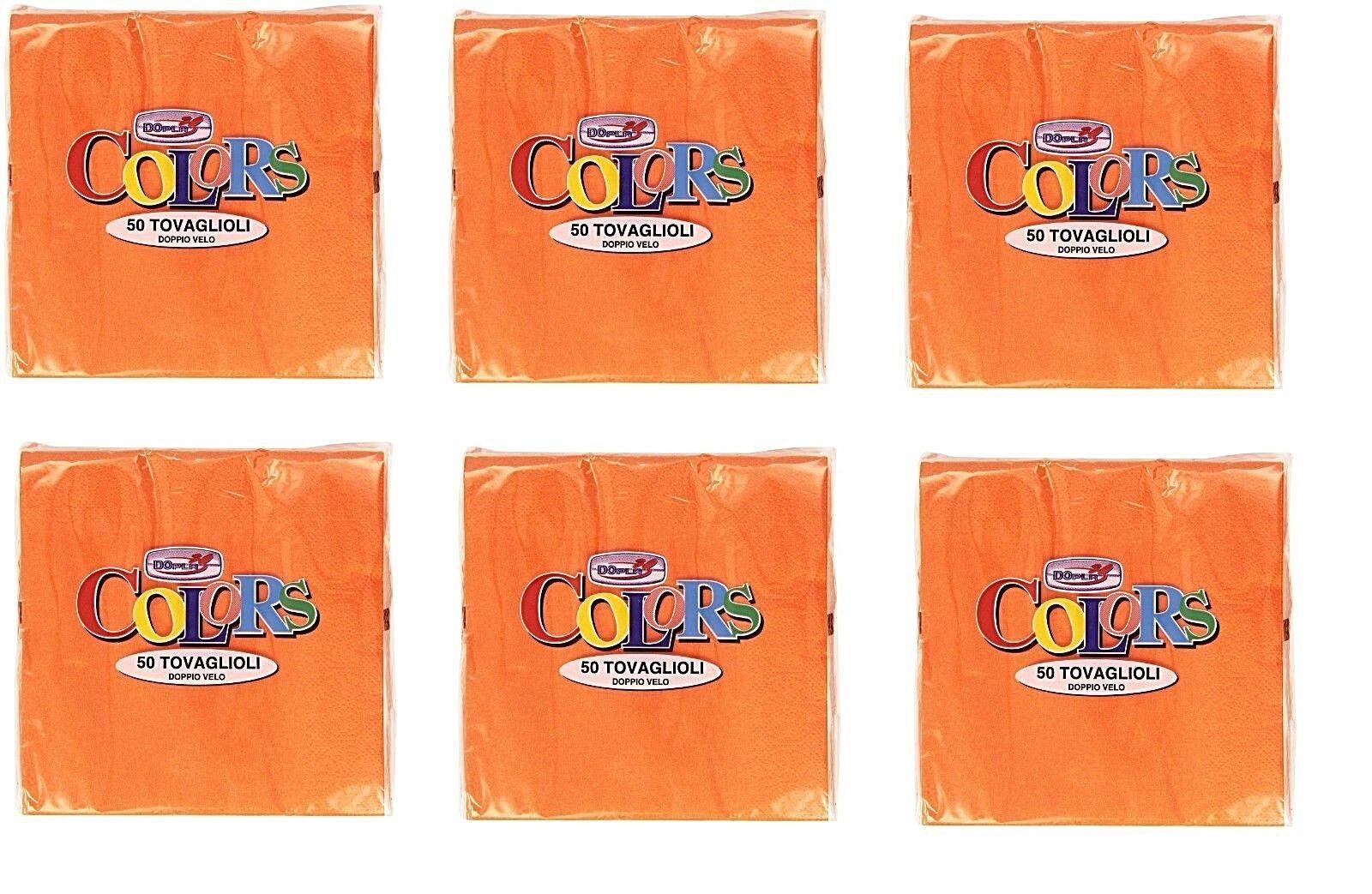 300 SERVIETTEN FarbeS Orange DOPLA 2-LAGEN- 33X33 CM DOPPELT SCHLEIER BUNT FEST | Schöne Kunst  | Schnelle Lieferung