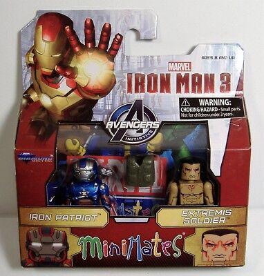Iron Man Patriot /& Extremis Soldier MARVEL MINIMATES 3 MOVIE figures Avengers