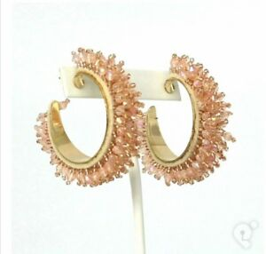 THE-STYLED-COLLECTION-CASABLANCA-HOOPS-EARRINGS-NEW-GLASS-HUE-BEADS