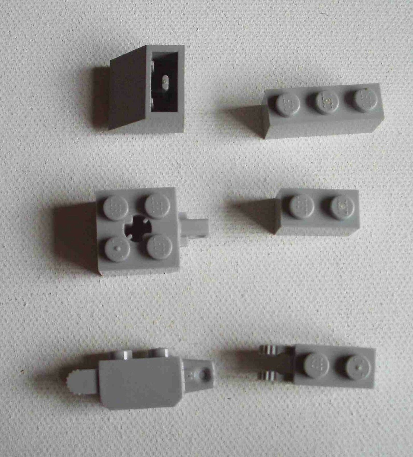 Lego 2x Tile Modified plaque lisse 1x3 inverted hole gris//light b gray 35459 NEW