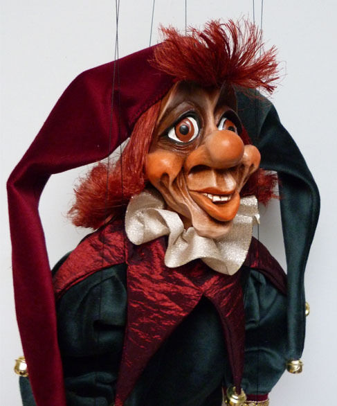 Títere-marioneta original, 22 pulgadas de alto, hecho a mano de República Checa