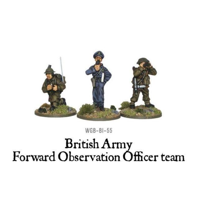Bolt Action British Army Forward Observer Officers 3 Figures, Wgb-bi-55