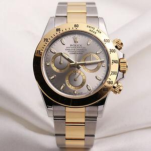 Rolex Daytona 116523 Steel Gold Silver Dial Ebay