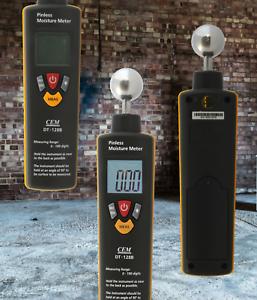 Feuchtemessgeraet-Feuchtigkeitsmesser-Wand-Beton-Putz-Feuchte-Hygrometer-estrich
