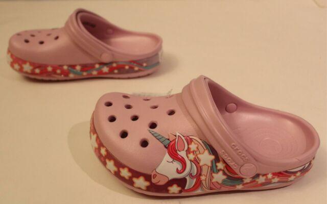 Comfortable Slip on Shoe for Toddlers Crocs Kids Fun Lab Unicorn Clog