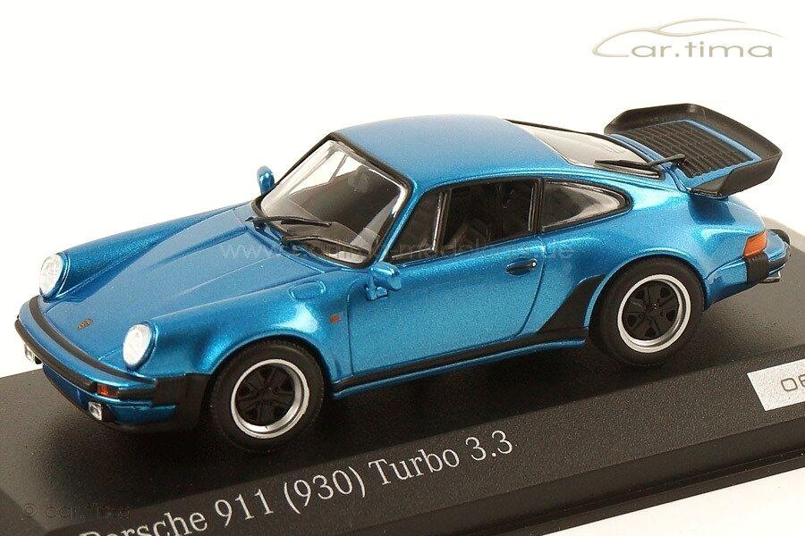 1 43 43 43 MINICHAMPS 1978 PORSCHE 911 (930) Turbo 3.3 minervabluee LE 200 cartima EXCL 870f5e