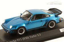 1:43 MINICHAMPS 1978 PORSCHE 911 (930) Turbo 3.3 minervablue LE 200 cartima EXCL