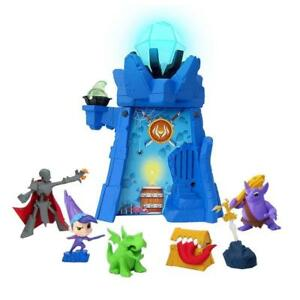 Details about Of Dragons, Fairies & Wizards Magical Wizard blue Tower and  red Wand, New