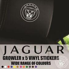 JAGUAR GROWLER HEADREST DECALS - Vinyl Stickers - Graphics Logo badge x5