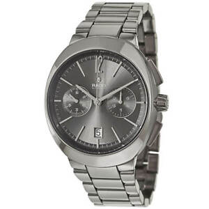Rado-Men-039-s-Watch-D-Star-Dark-Grey-Dial-Silver-Tone-Ceramic-Bracelet-R15198102