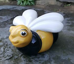 Image Is Loading Ceramic Bumble Bee Garden Outdoor Indoor SALE Ornament
