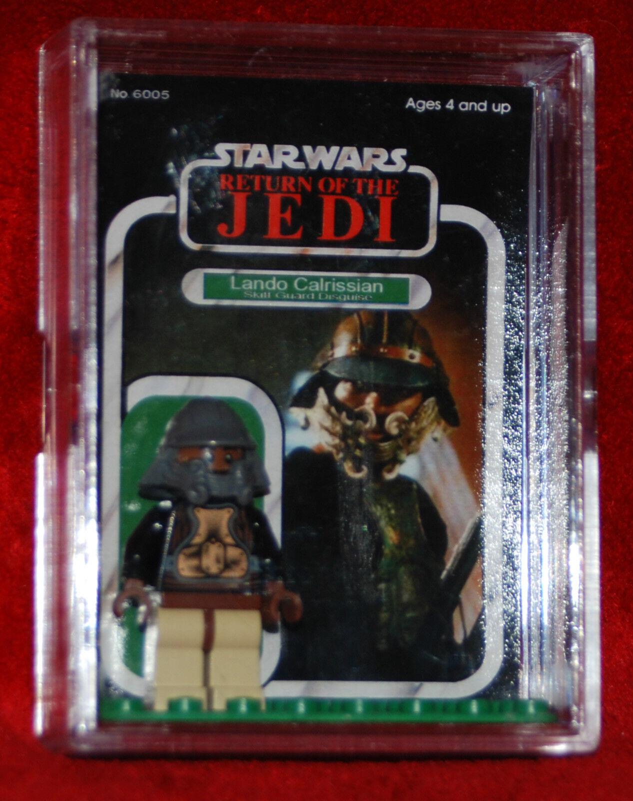 Lego Lando Calrissian nuevo caso de tarjeta Personalizada STARWARS Minifigura Star Wars