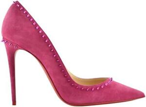 Image is loading NB-Christian-Louboutin-Anjalina-100-Loulou-Pink-Suede- 58f8a860ace