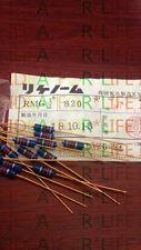 1pc RIKEN RMG  0.5W(1/2W) 820R  Gold plated Carbon Film Resistor #G2494 XH