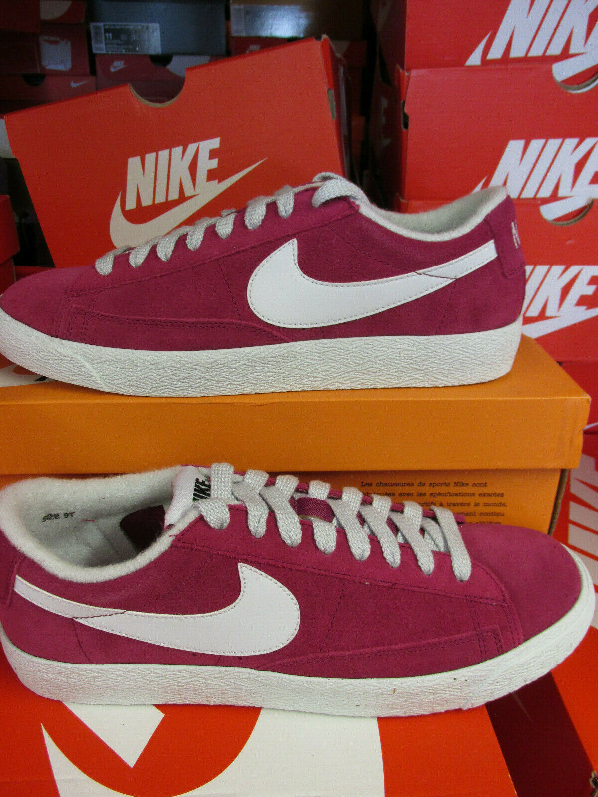 best website dec85 636da Nike Blazer Low PRM PRM PRM VNTG Suede Mens Trainers 538402 603 Sneakers  shoes CLEARANCE 6aab88