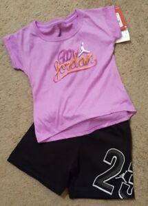 NWT Nike Air Jordan Girls 2pc shirt