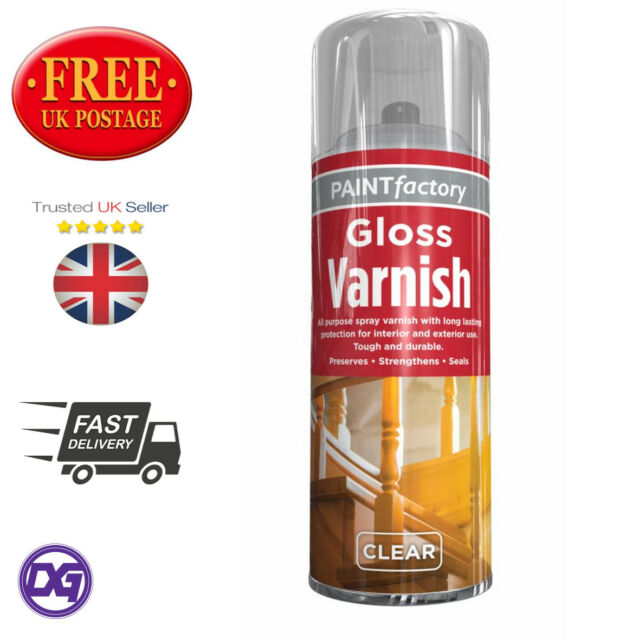 1 X 400ml All Purpose Clear Varnish Gloss Spray Paint Household Indoor Outdoor