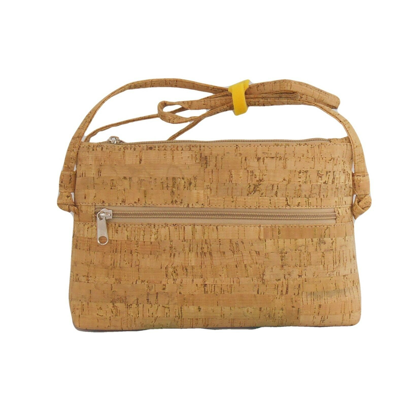 The PINE shoulder bag in wood cork. eco-friendly, handmade. VEGANS